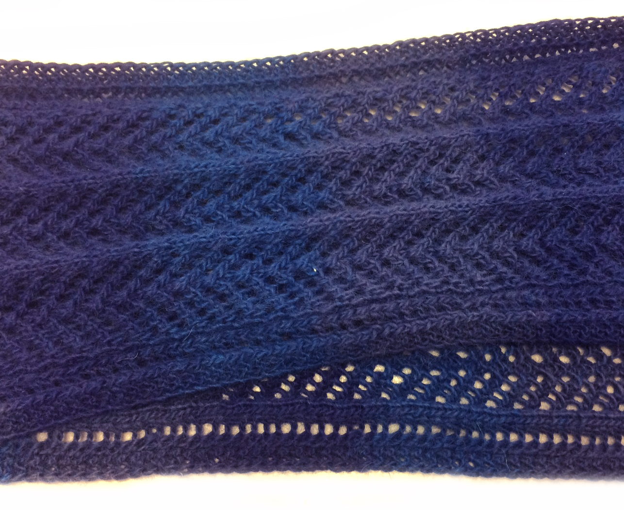 Trinity Knitted Lace Scarf by Wool Monkey