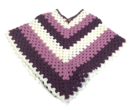 Kid's Basic V Granny Crochet Poncho