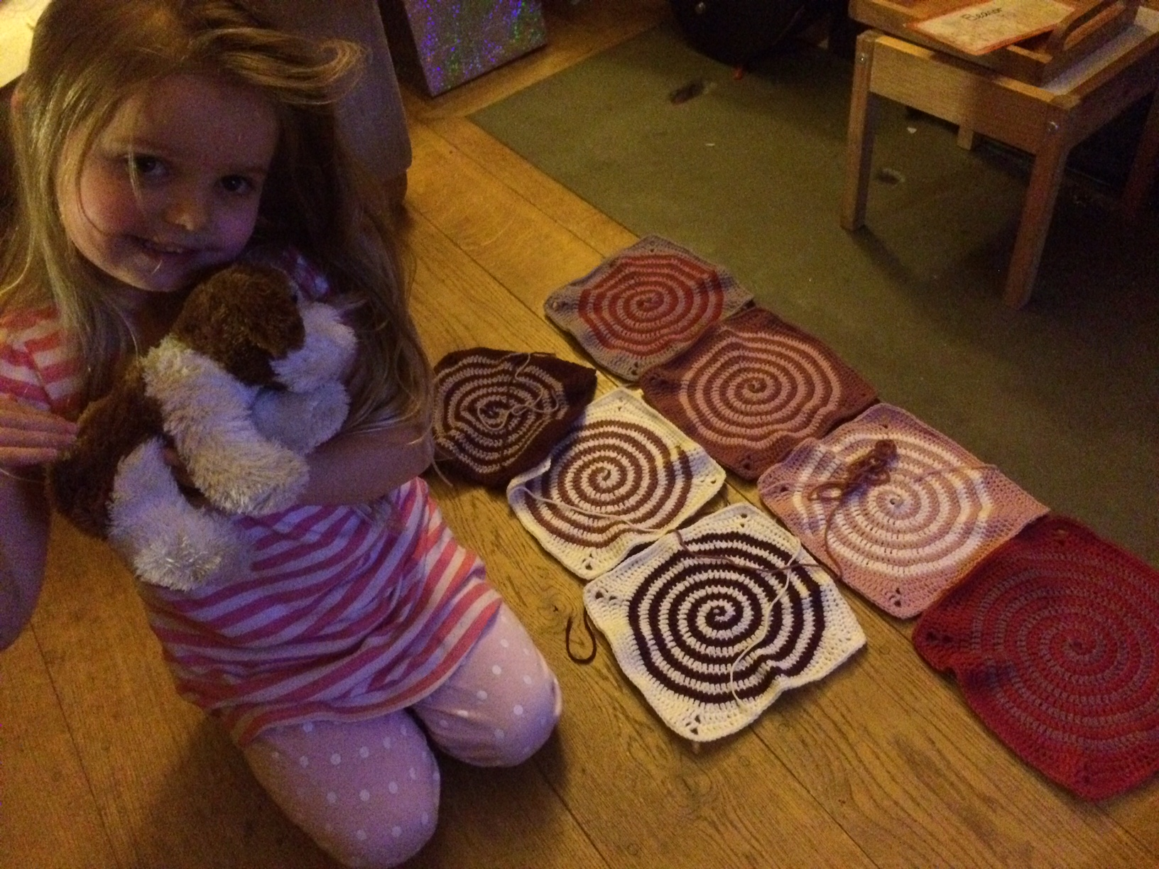 Woolly Crochet Spiral Blanket