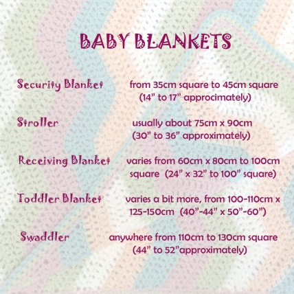 Standard Baby Blanket Sizes